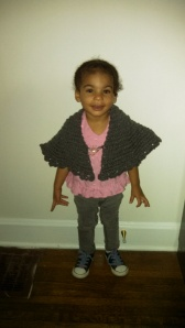 My daughter in her shawl