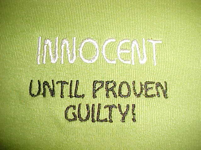 innocent until proven guilty the crucible In the american justice system (and others) it's said criminals are innocent until proven guilty but they're treated as if they have committed a crime (being locked.