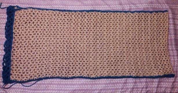 Daylight Tweedy Shawl with Trim