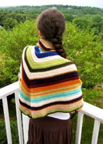 Easy Scrap Yarn Shawl by Erica Jackofsky