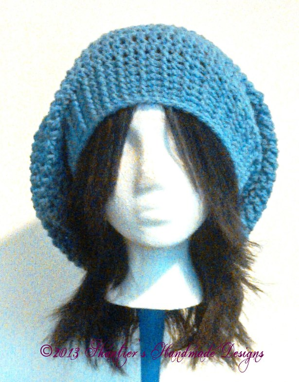 Slouch hat with Ribbed Brim by Shantier's Handmade Designs